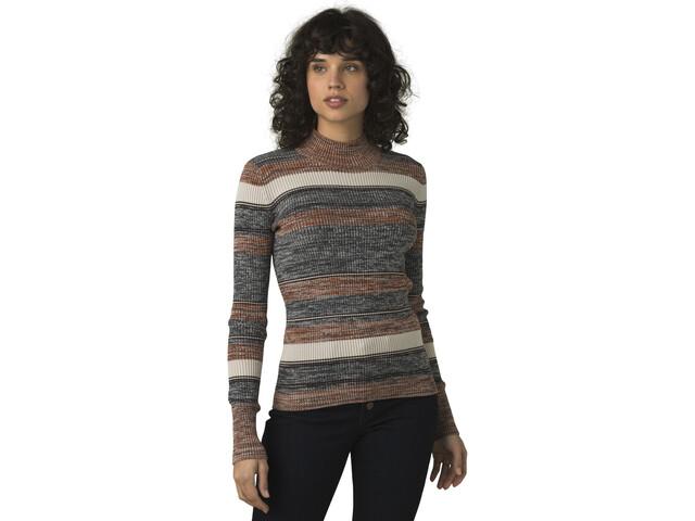 Prana Acadia Suéter Mujer, gris/marrón